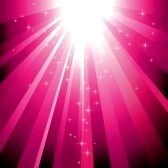 6157567-sparkling-stars-descending-on-magenta-light-burst-background