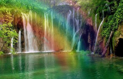 waterfall colors
